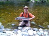 Nathaniel with a salmon